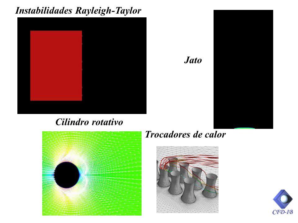 Instabilidades Rayleigh-Taylor Trocadores de calor Cilindro rotativo Jato