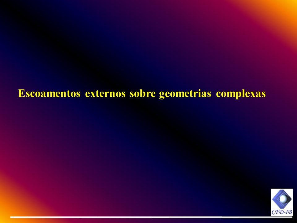 Escoamentos externos sobre geometrias complexas