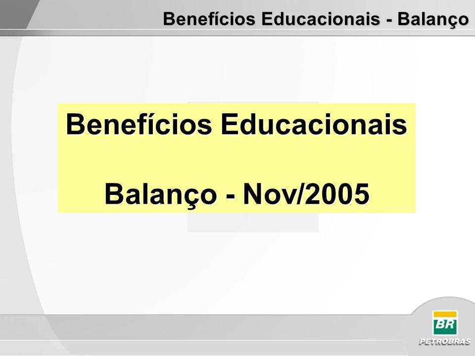 Benefícios Educacionais Balanço - Nov/2005 Benefícios Educacionais - Balanço
