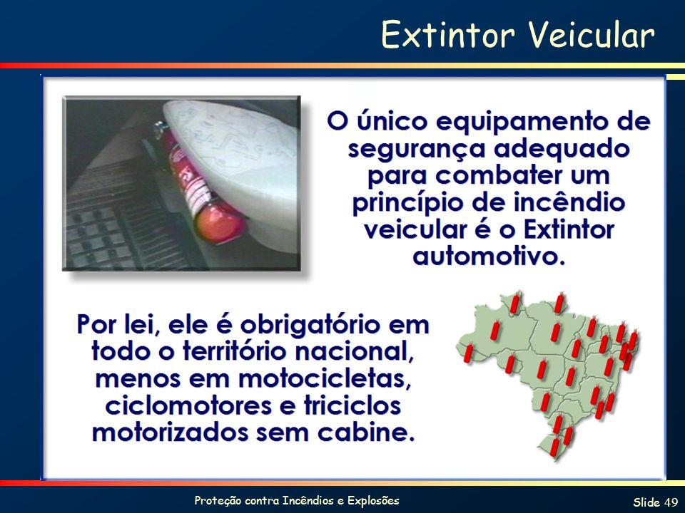 Proteção contra Incêndios e Explosões Slide 49 Extintor Veicular