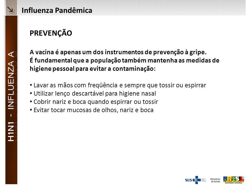 Ministério da Saúde PREVENÇÃO A vacina é apenas um dos instrumentos de prevenção à gripe.