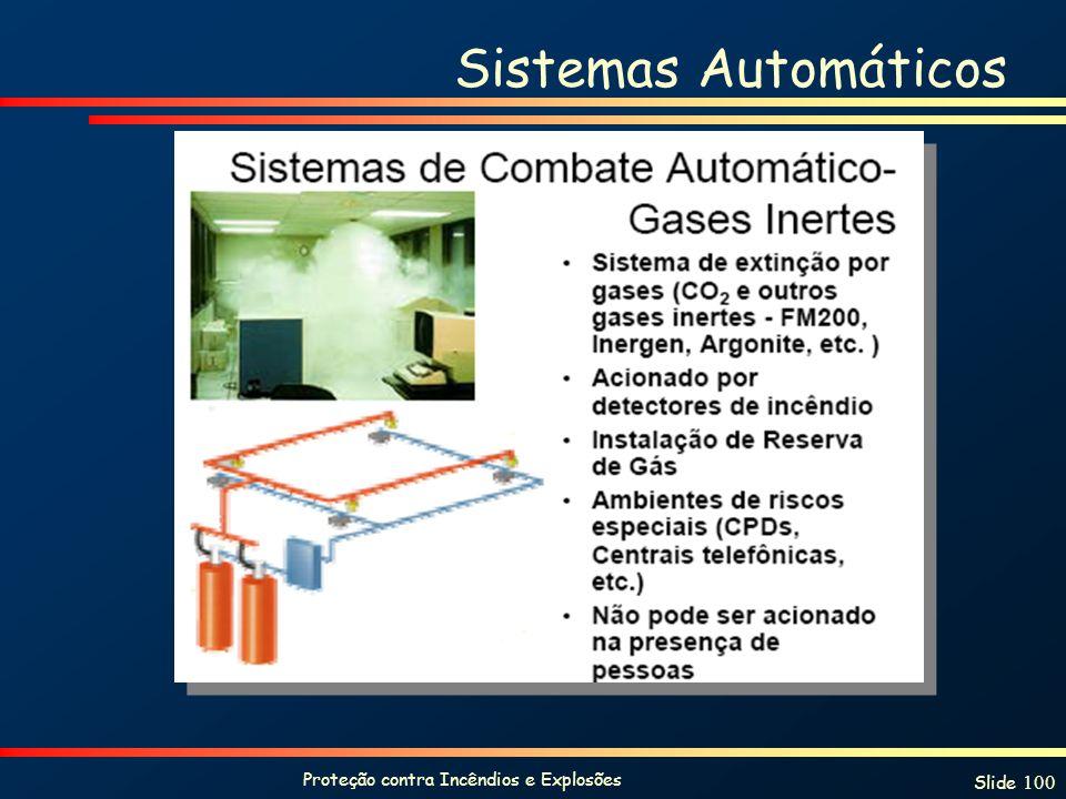 Proteção contra Incêndios e Explosões Slide 100 Sistemas Automáticos
