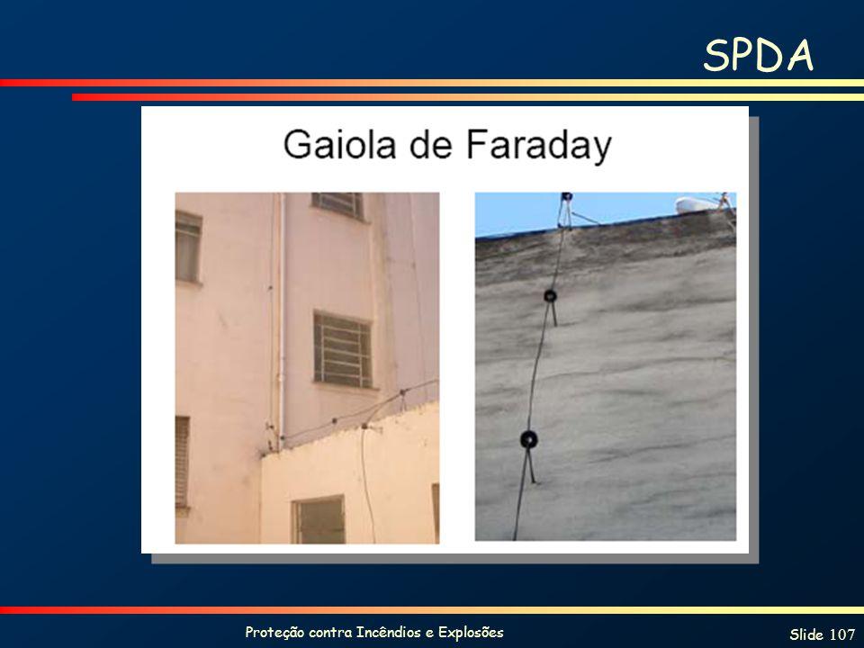 Proteção contra Incêndios e Explosões Slide 107 SPDA