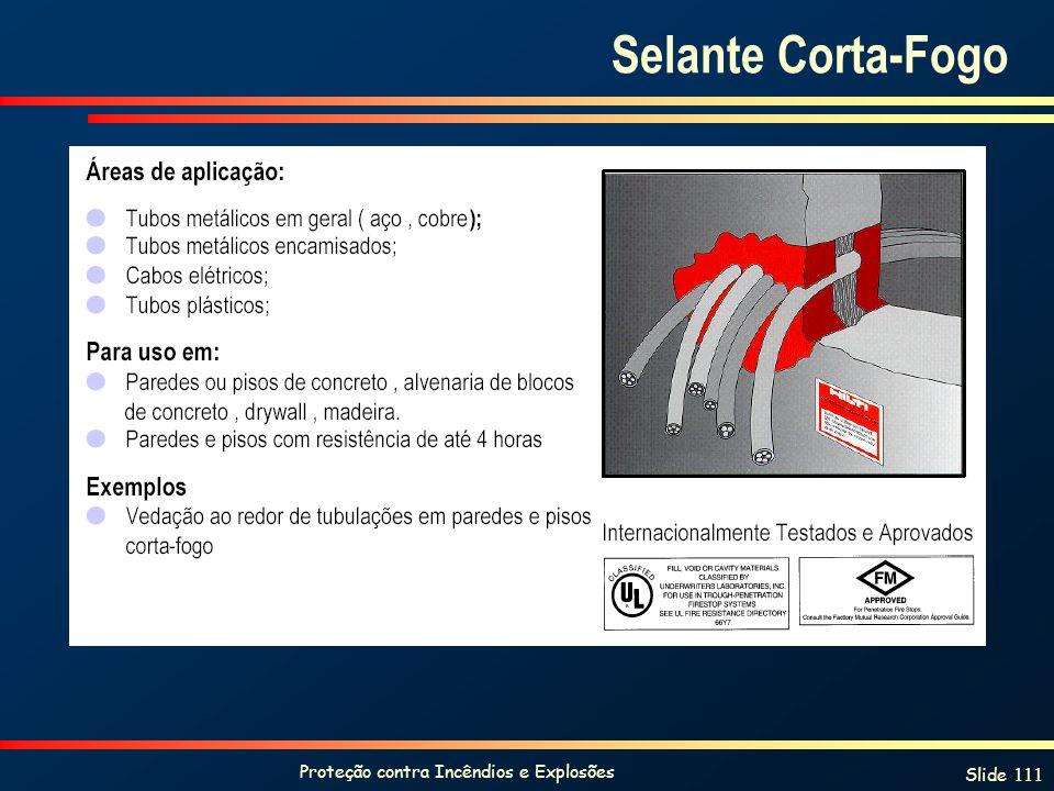 Proteção contra Incêndios e Explosões Slide 111 Selante Corta-Fogo