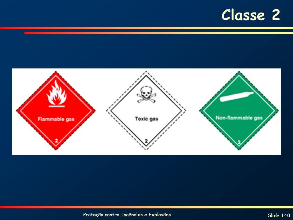 Proteção contra Incêndios e Explosões Slide 140 Classe 2
