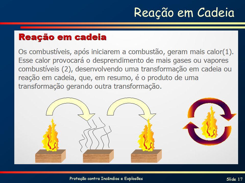 Proteção contra Incêndios e Explosões Slide 17 Reação em Cadeia