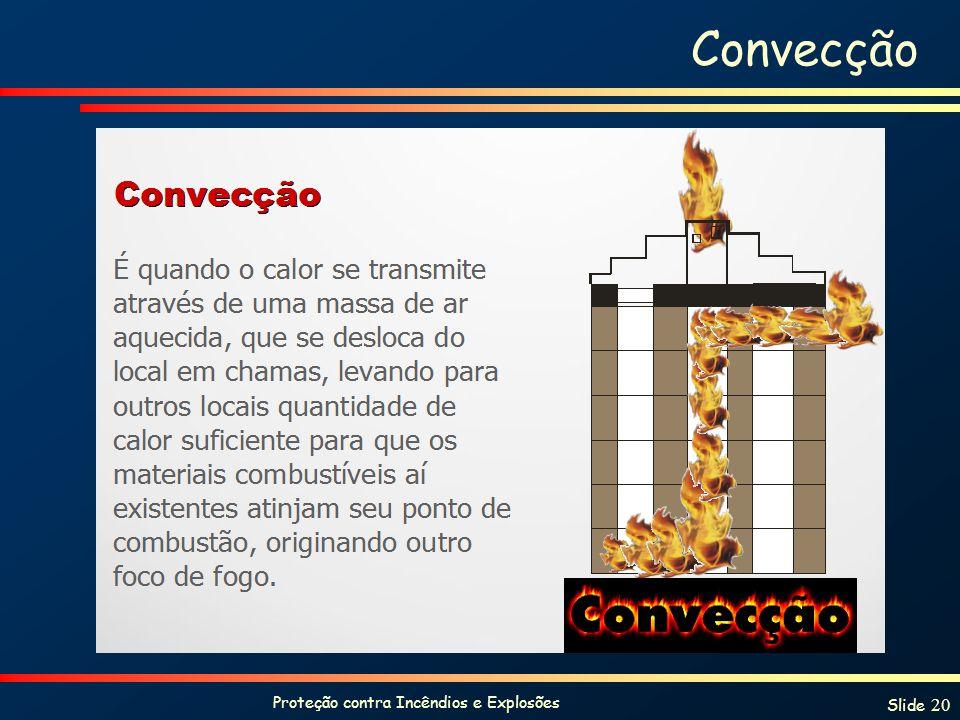 Proteção contra Incêndios e Explosões Slide 20 Convecção