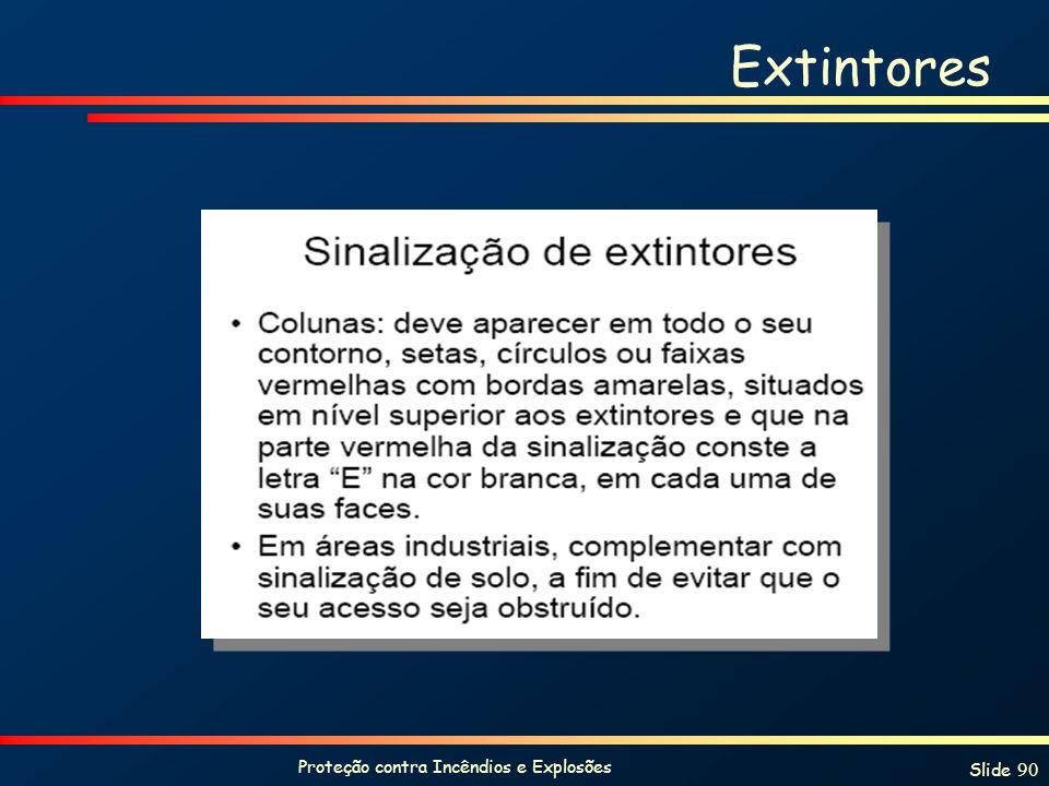 Proteção contra Incêndios e Explosões Slide 90 Extintores