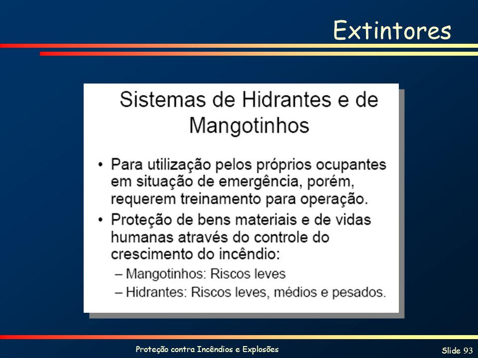 Proteção contra Incêndios e Explosões Slide 93 Extintores