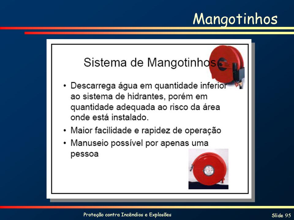 Proteção contra Incêndios e Explosões Slide 95 Mangotinhos