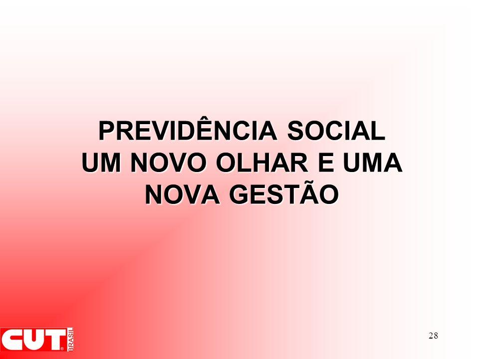 28 PREVIDÊNCIA SOCIAL UM NOVO OLHAR E UMA NOVA GESTÃO