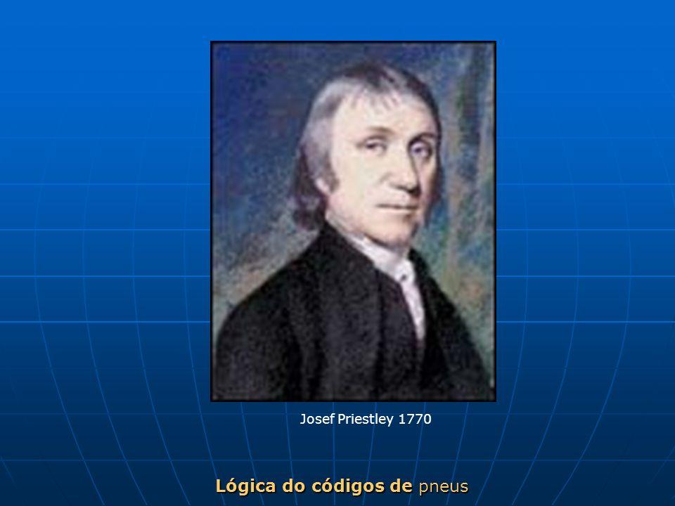Lógica do códigos de pneus Josef Priestley 1770