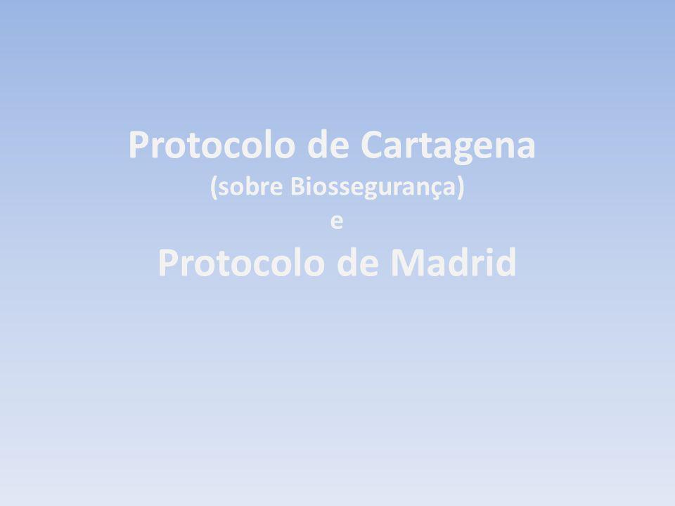 Protocolo de Cartagena (sobre Biossegurança) e Protocolo de Madrid