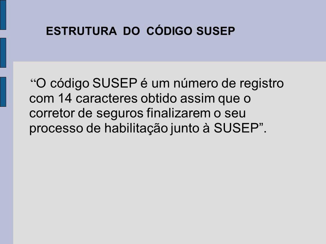 O código SUSEP é um número de registro com 14 caracteres obtido assim que o corretor de seguros finalizarem o seu processo de habilitação junto à SUSE