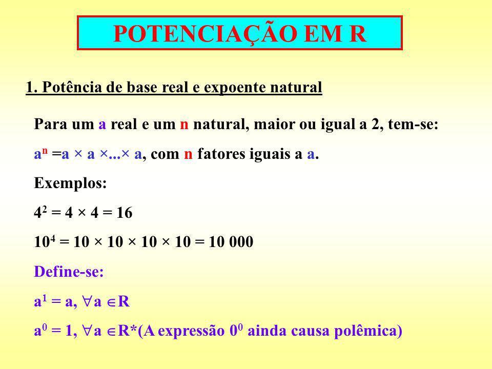 POTENCIAÇÃO EM R 2.