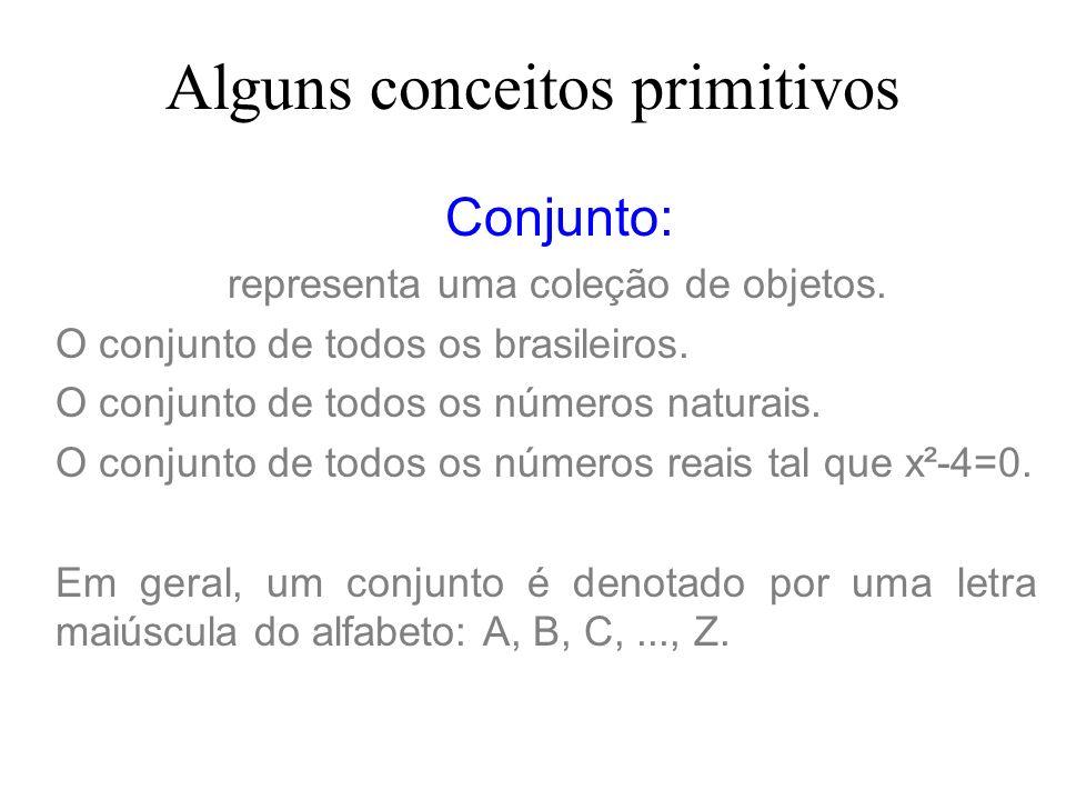 Elemento: é um dos componentes de um conjunto.