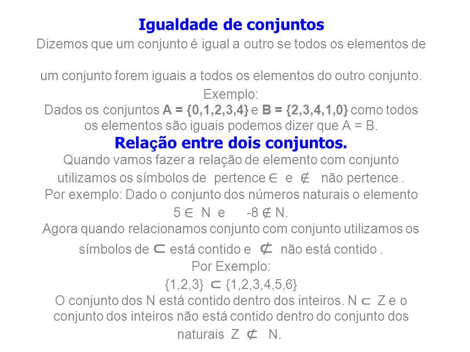 Algumas notações para conjuntos muitas vezes, um conjunto é representado com os seus elementos dentro de duas chaves { e } através de duas formas básicas e de uma terceira forma geométrica: Apresentação: Os elementos do conjunto estão dentro de duas chaves { e }.