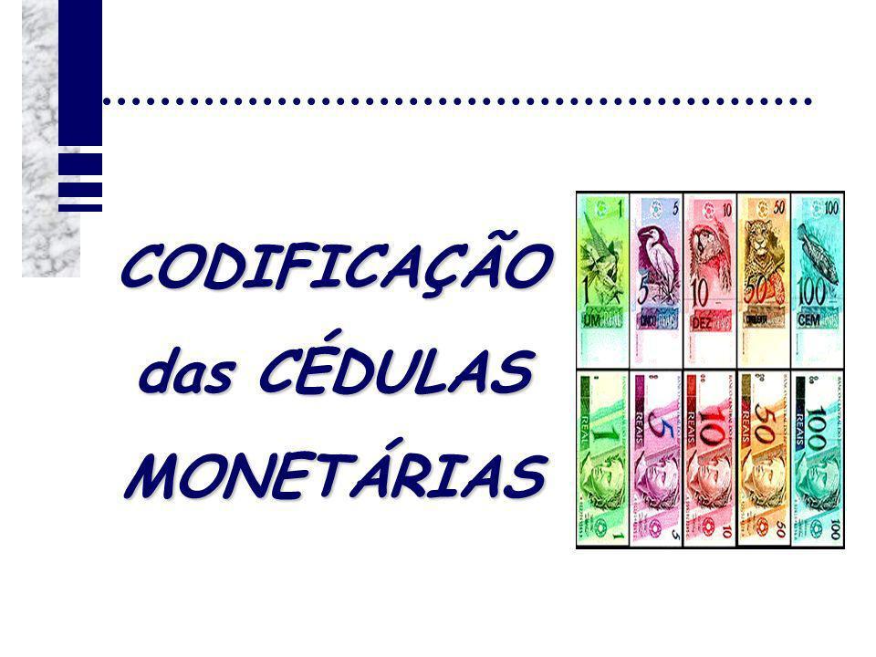 CODIFICAÇÃO das CÉDULAS MONETÁRIAS