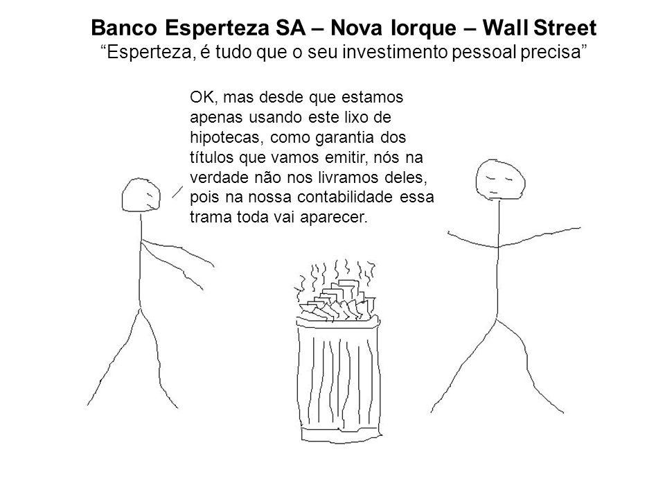 Banco Esperteza SA – Nova Iorque – Wall Street Esperteza, é tudo que o seu investimento pessoal precisa OK, mas desde que estamos apenas usando este l