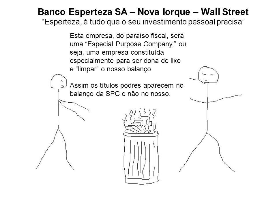 Banco Esperteza SA – Nova Iorque – Wall Street Esperteza, é tudo que o seu investimento pessoal precisa Esta empresa, do paraíso fiscal, será uma Espe