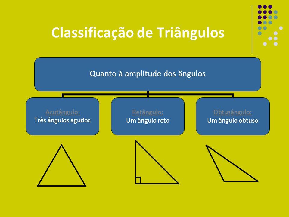 SOMA DOS ÂNGULOS INTERNOS DE UM TRIÂNGULO a c b c b a A soma dos ângulos internos de um triângulo é sempre 180º.