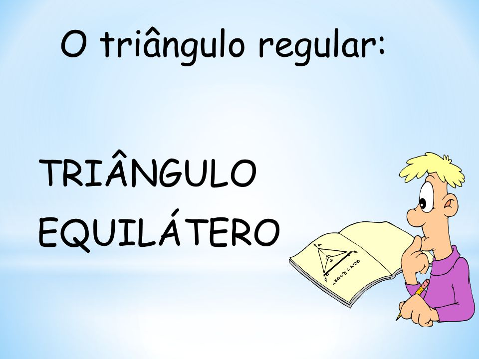 Como inscrever um triângulo equilátero numa circunferência .