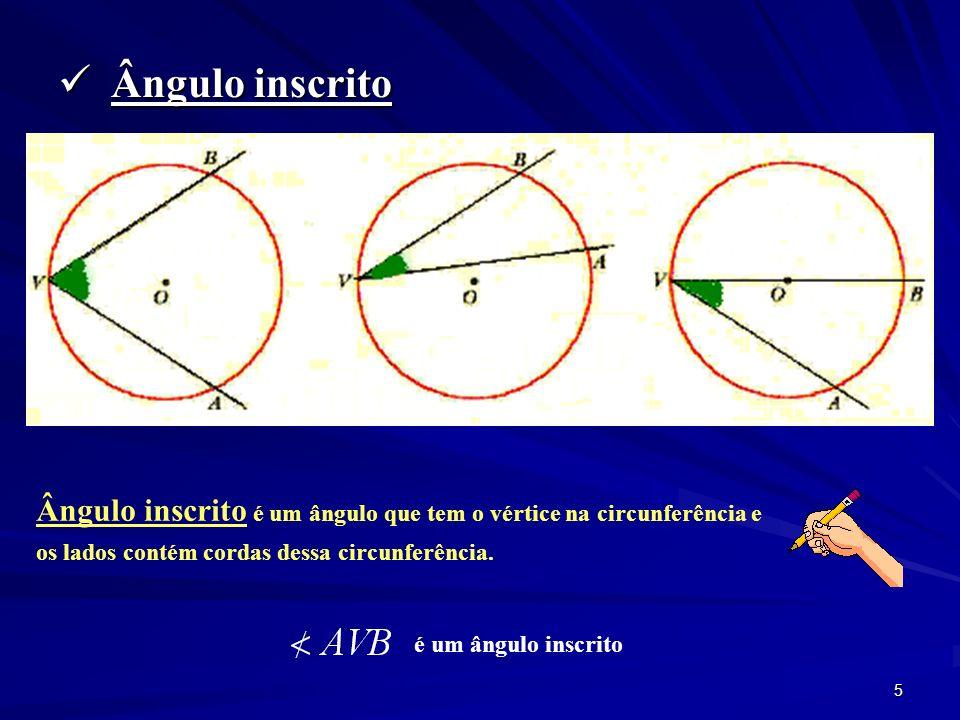 4 Exercício: Determine a amplitude do ângulo x e do seu arco correspondente.