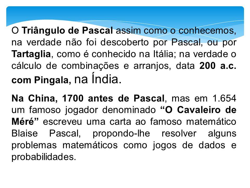 Propriedades do Triângulo de Pascal 7