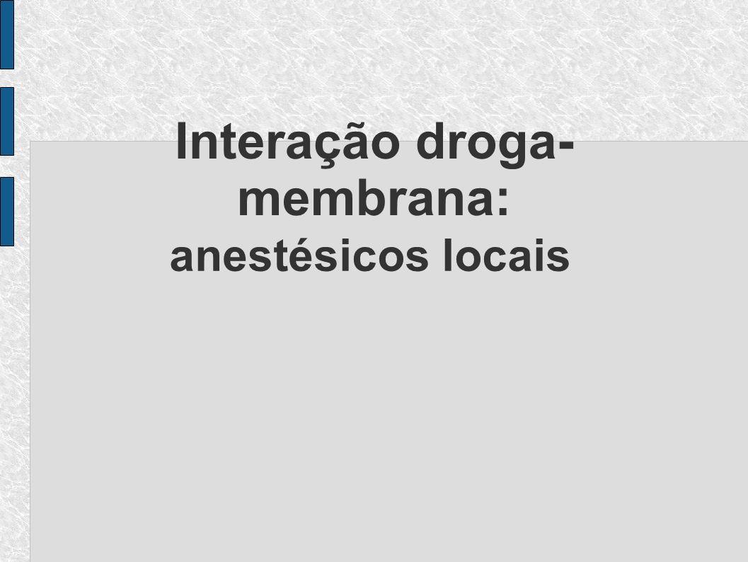 Interação droga- membrana: anestésicos locais