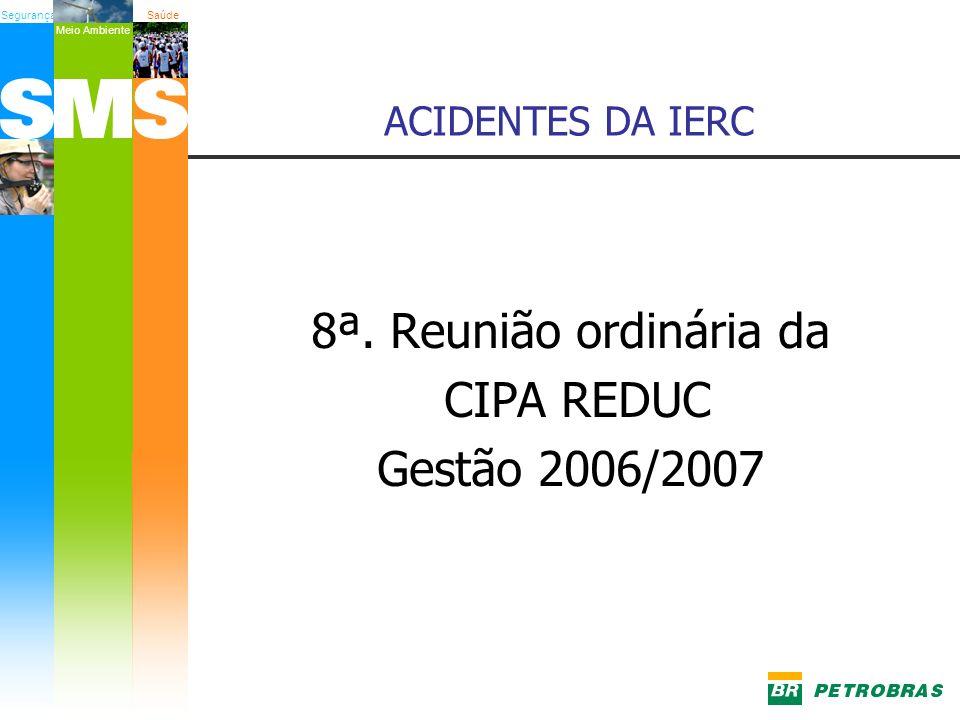 SegurançaSaúde Meio Ambiente ACIDENTES DA IERC 8ª. Reunião ordinária da CIPA REDUC Gestão 2006/2007