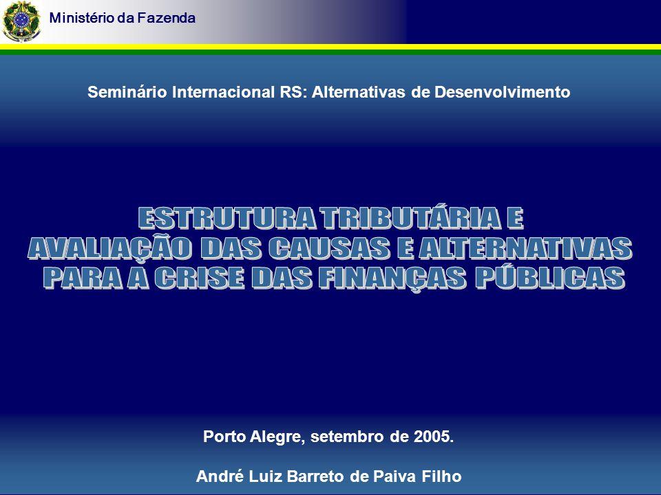 Ministério da Fazenda Porto Alegre, setembro de 2005.