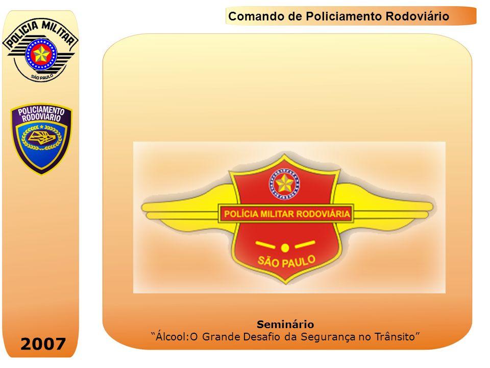 2007 Comando de Policiamento Rodoviário Seminário Álcool:O Grande Desafio da Segurança no Trânsito