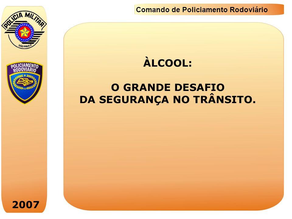 2007 Comando de Policiamento Rodoviário Prevenção – como diminuir, efetivamente, os acidentes de trânsito relacionados com bebidas alcoólicas.