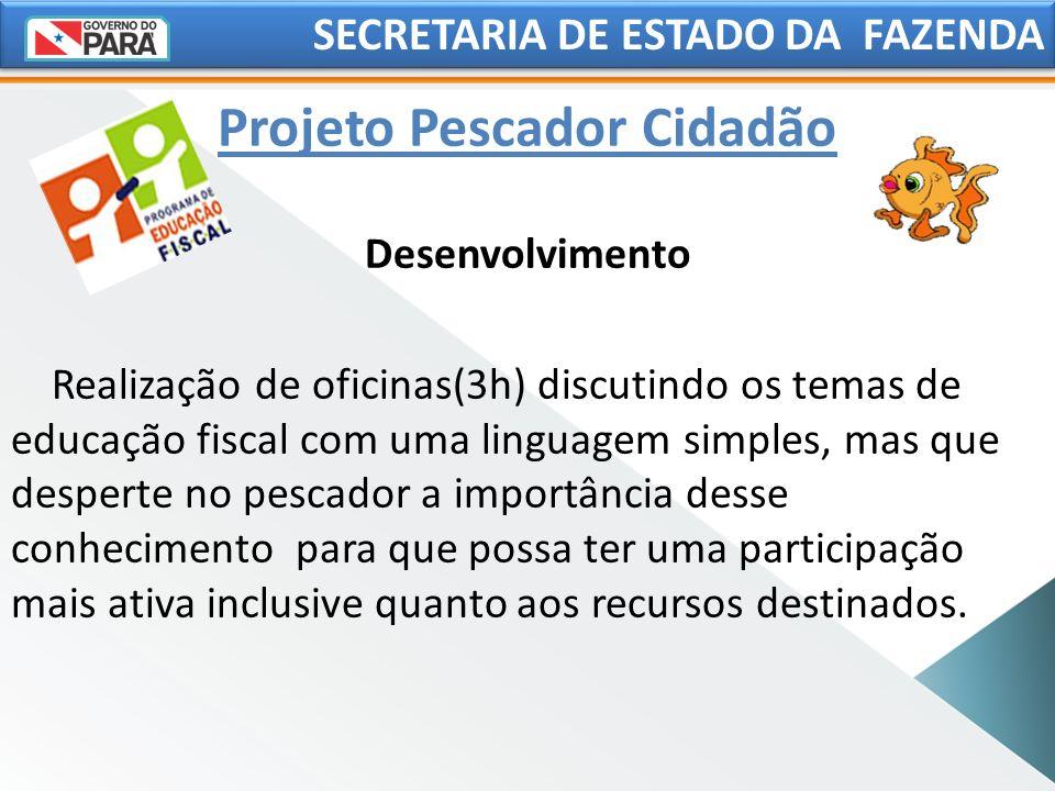 SECRETARIA DE ESTADO DA FAZENDA Desenvolvimento Realização de oficinas(3h) discutindo os temas de educação fiscal com uma linguagem simples, mas que d