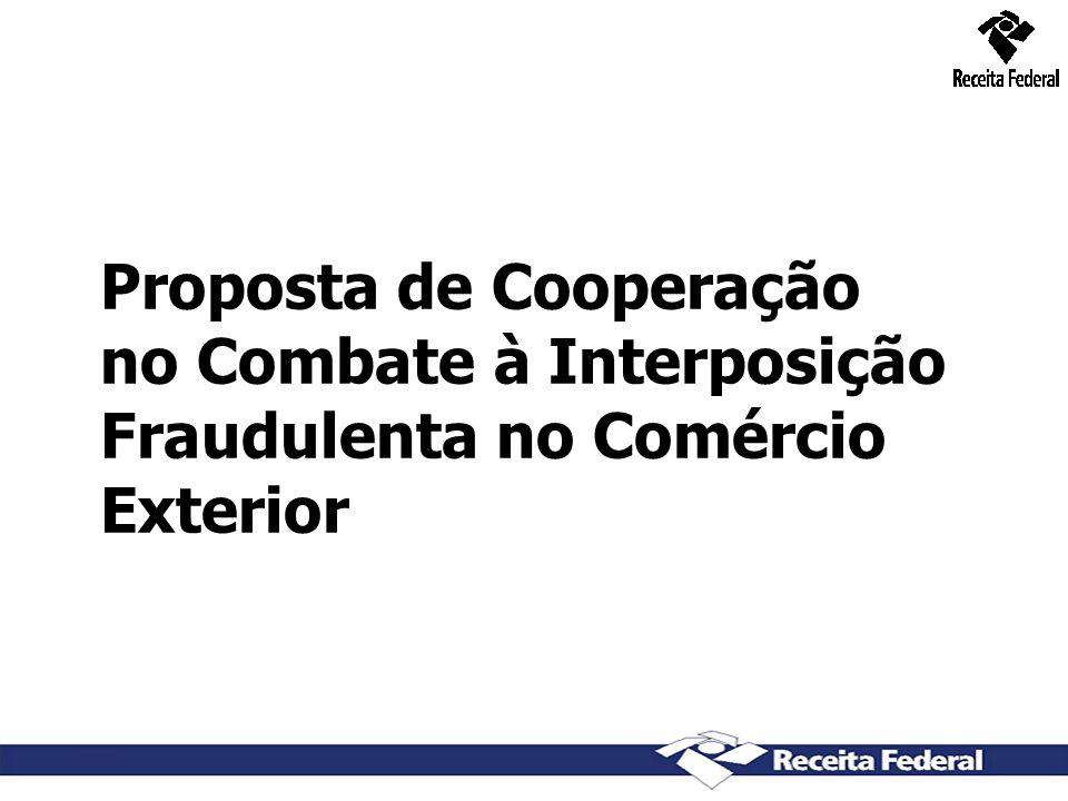 6 Proposta de Cooperação no Combate à Interposição Fraudulenta no Comércio Exterior