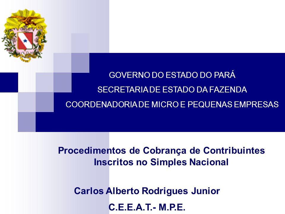 Por: Carlos Alberto Rodrigues Junior - CEEAT-MPE Seminário – Fiscalização – DFI – set-2008 – Hotel Beira Rio - Belém Premissas para a Fiscalização de Empresas do Simples Nacional O art.