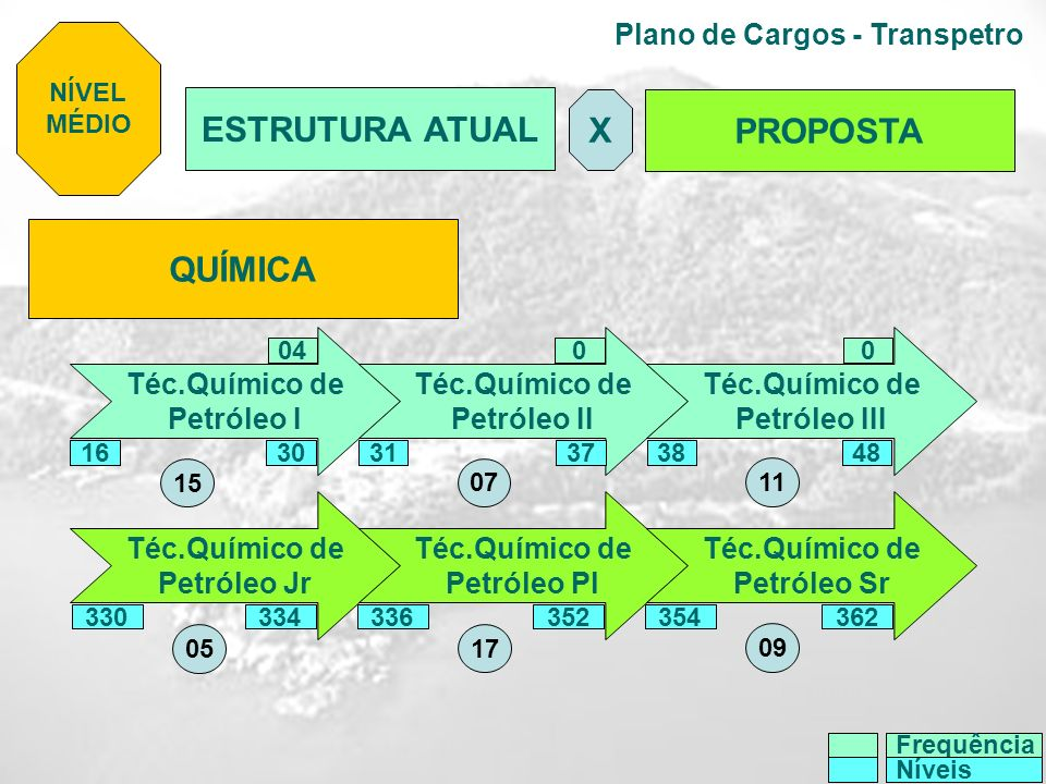 Plano de Cargos - Transpetro QUÍMICA Téc.Químico de Petróleo I Téc.Químico de Petróleo II Téc.Químico de Petróleo III Téc.Químico de Petróleo Jr Téc.Q
