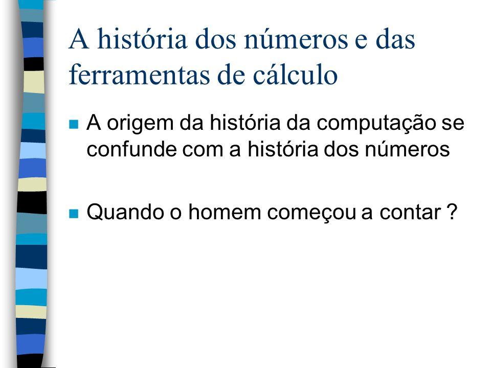 As primeiras máquinas de contar