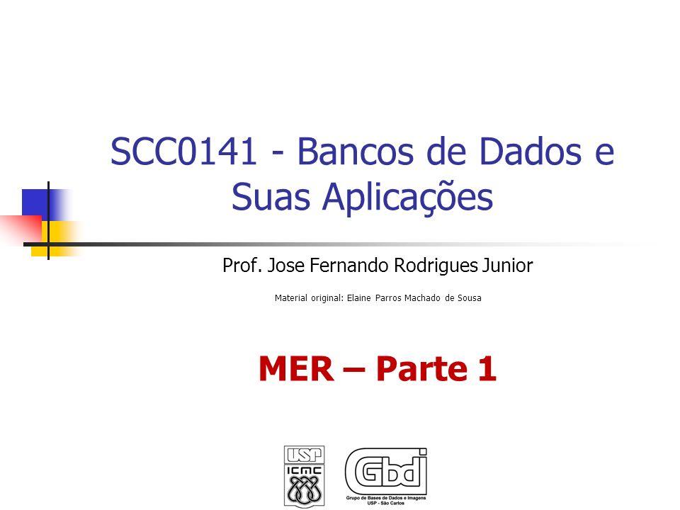 SCC0141 - Bancos de Dados e Suas Aplicações Prof. Jose Fernando Rodrigues Junior Material original: Elaine Parros Machado de Sousa MER – Parte 1