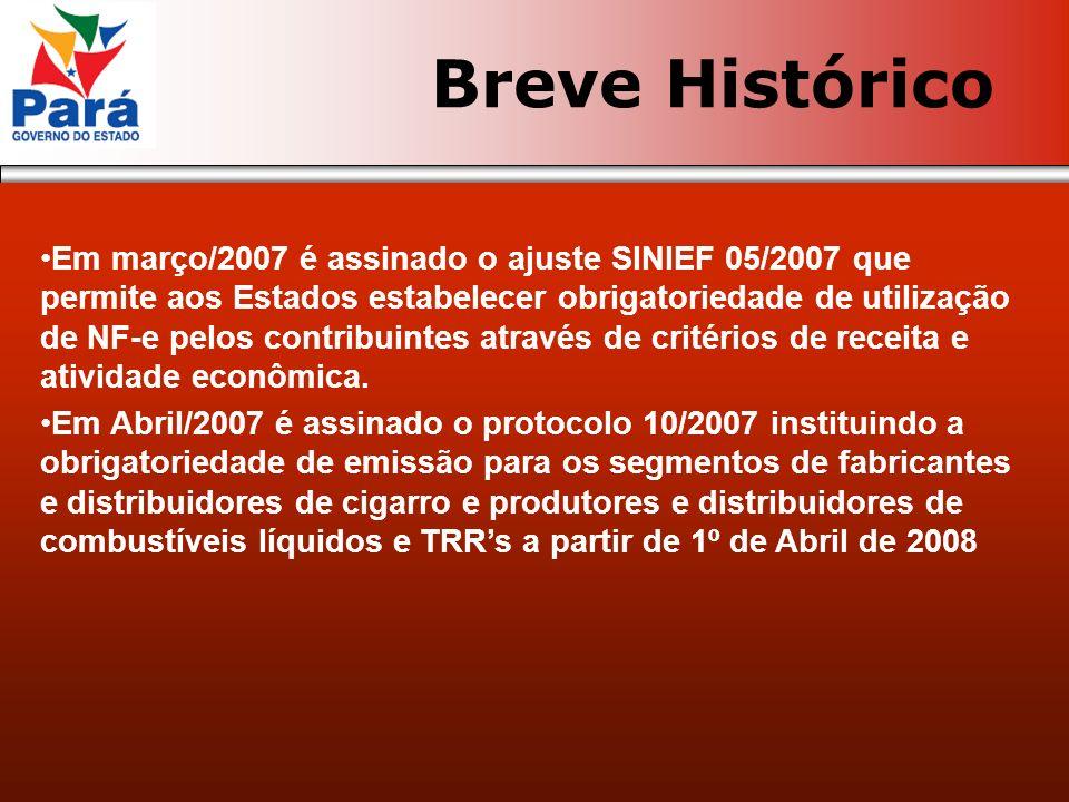Ajuste SINIEF 07/2005 Ajuste SINIEF 05/2007 Protocolo 10/2007 Protocolo 30/2007 RICMS Artigos 182-A a 182-R Legislação