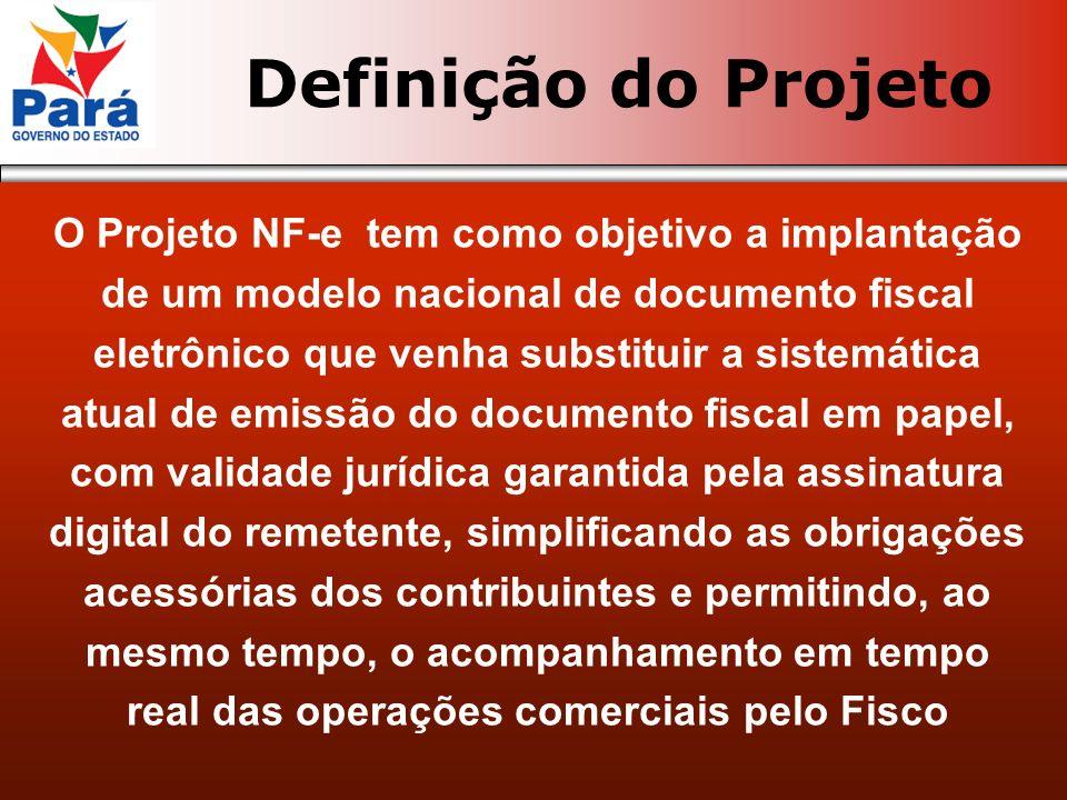 O Projeto NF-e tem como objetivo a implantação de um modelo nacional de documento fiscal eletrônico que venha substituir a sistemática atual de emissã