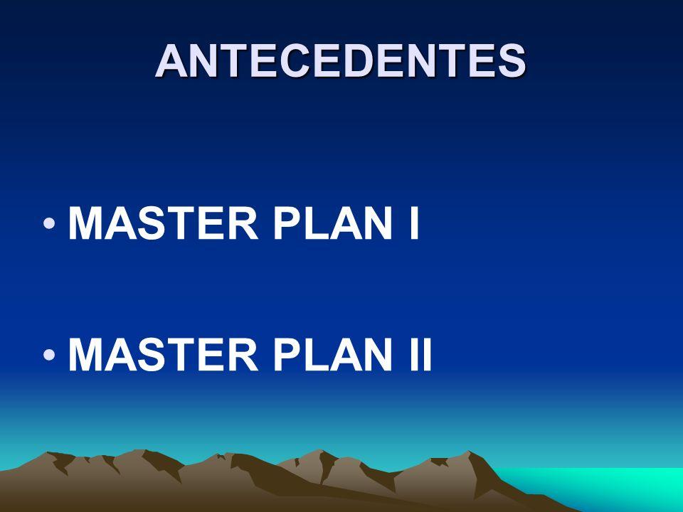 ANTECEDENTES MASTER PLAN I MASTER PLAN II