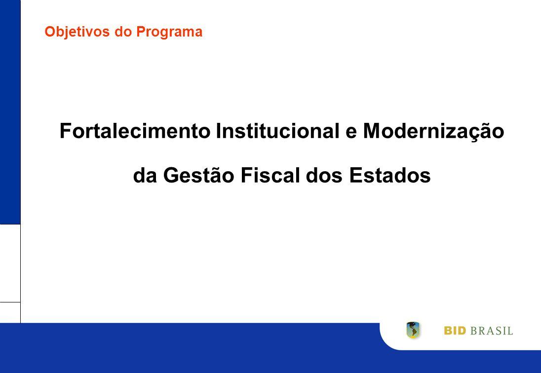 Objetivos do Programa Fortalecimento Institucional e Modernização da Gestão Fiscal dos Estados