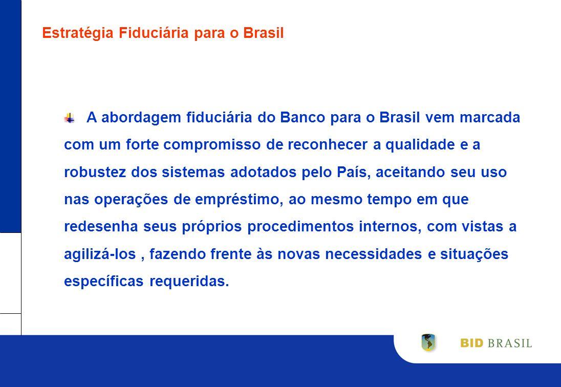 Estratégia Fiduciária para o Brasil A abordagem fiduciária do Banco para o Brasil vem marcada com um forte compromisso de reconhecer a qualidade e a r