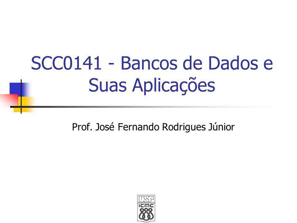 SCC0141 - Bancos de Dados e Suas Aplicações Prof. José Fernando Rodrigues Júnior