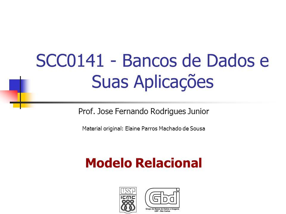 SCC0141 - Bancos de Dados e Suas Aplicações Prof. Jose Fernando Rodrigues Junior Material original: Elaine Parros Machado de Sousa Modelo Relacional