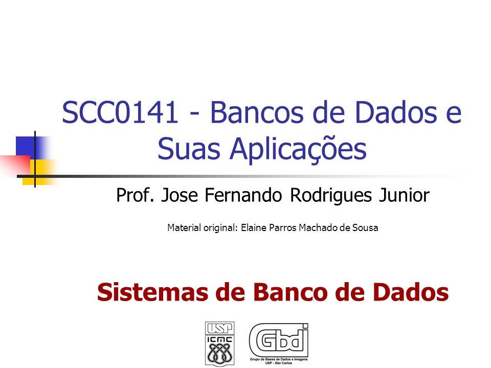 SCC0141 - Bancos de Dados e Suas Aplicações Prof. Jose Fernando Rodrigues Junior Material original: Elaine Parros Machado de Sousa Sistemas de Banco d