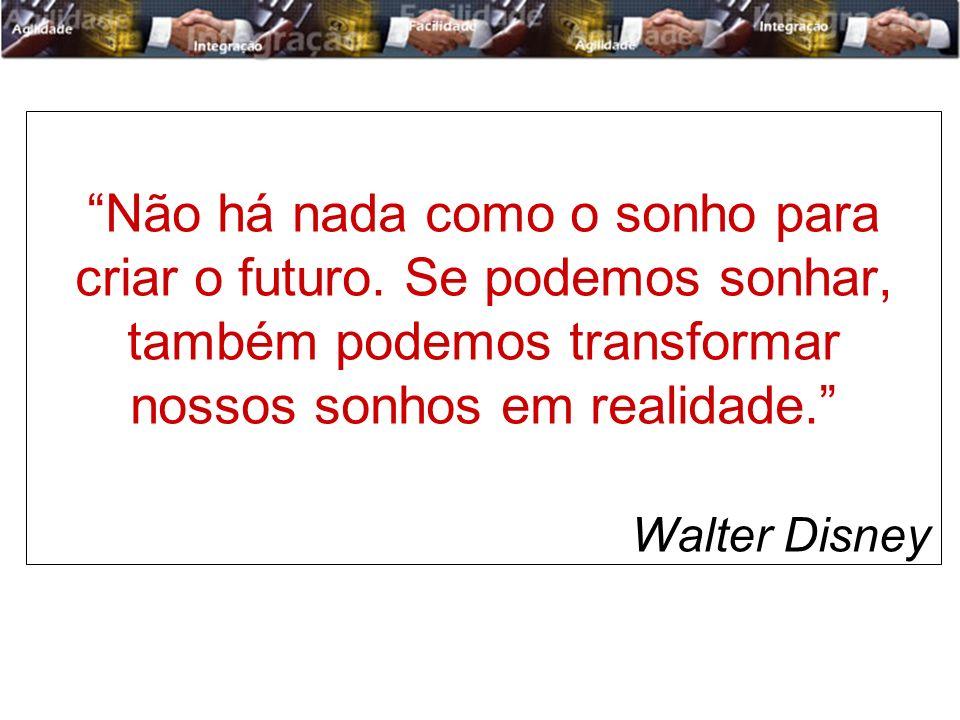 Não há nada como o sonho para criar o futuro. Se podemos sonhar, também podemos transformar nossos sonhos em realidade. Walter Disney
