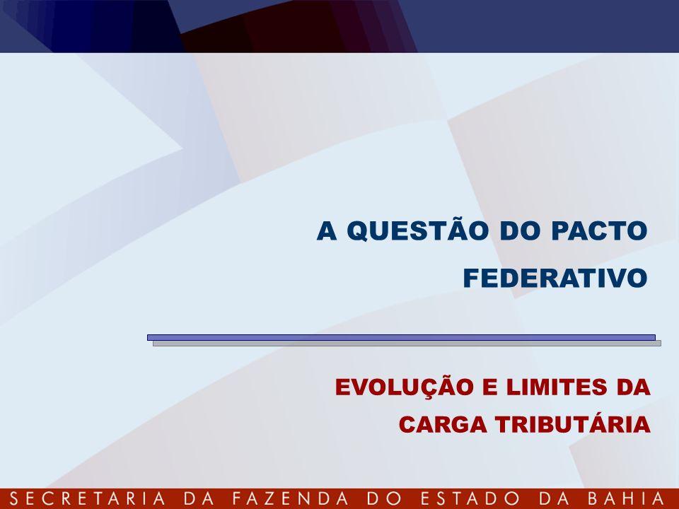 EVOLUÇÃO E LIMITES DA CARGA TRIBUTÁRIA A QUESTÃO DO PACTO FEDERATIVO