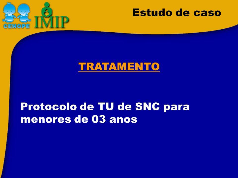 Protocolo de TU de SNC para menores de 03 anos TRATAMENTO Estudo de caso
